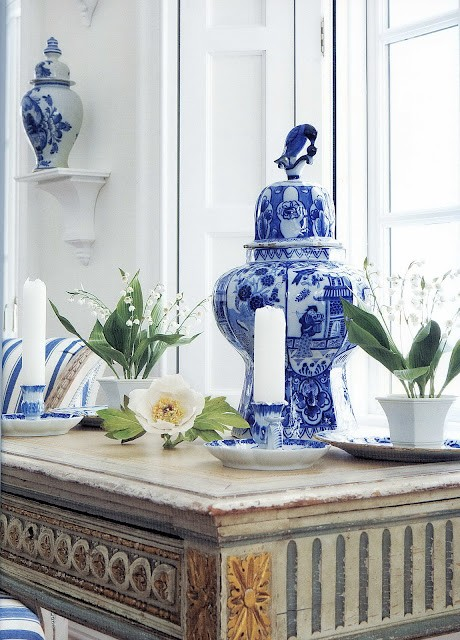 classic blue and white porcelain decor obsession diy