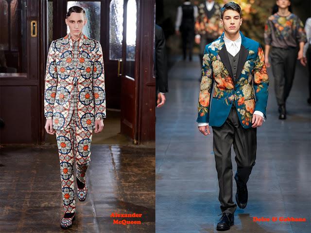 Tendencia otoño_invierno 2013-14 estampado de flores: Alexander McQueen y Dolce & Gabbana