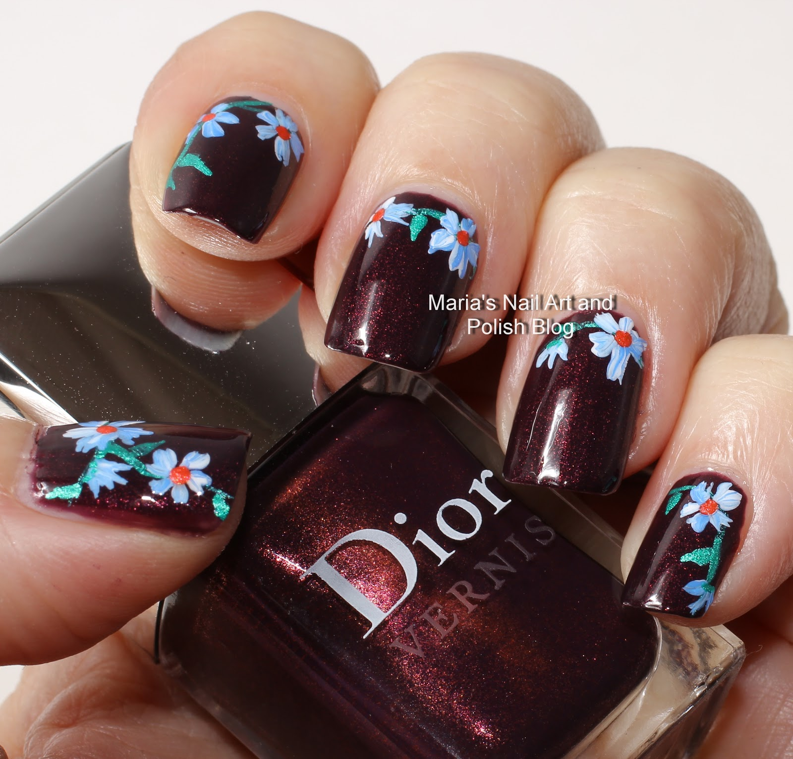 Marias Nail Art And Polish Blog Subtle Floral Nail Art On: Marias Nail Art And Polish Blog: Licorice Flowers