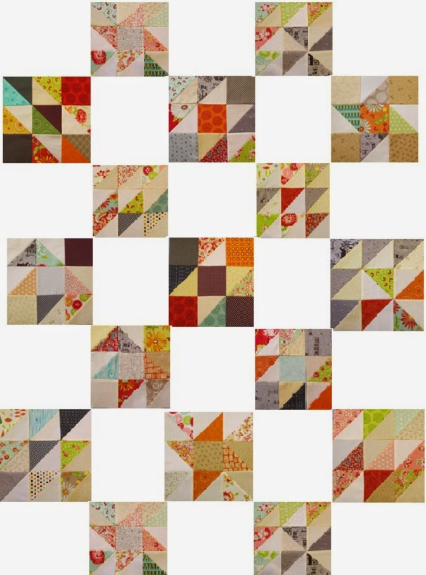 Scrappy Triangle Charm Quilt Pattern by The Quilt Ladies