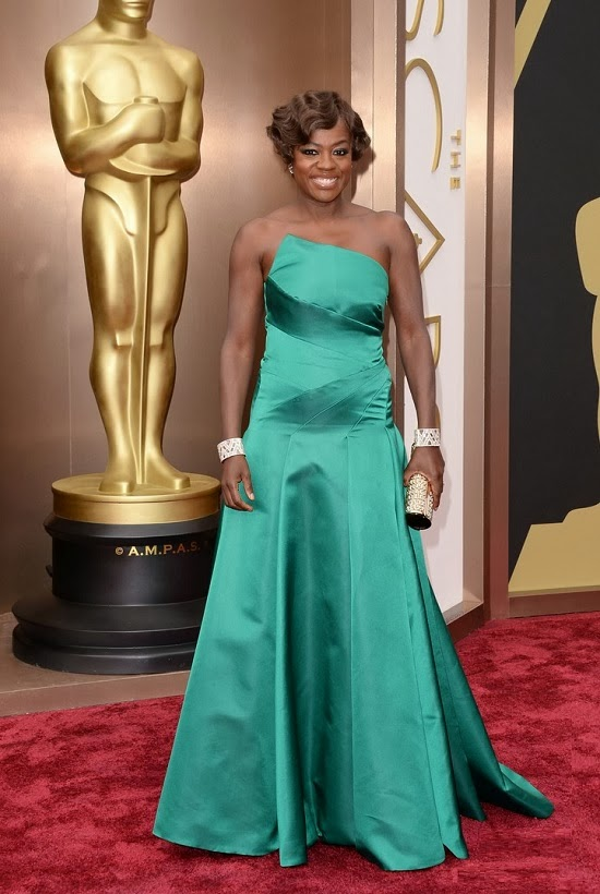 Viola Davis in Escada gown at 2014 Oscars