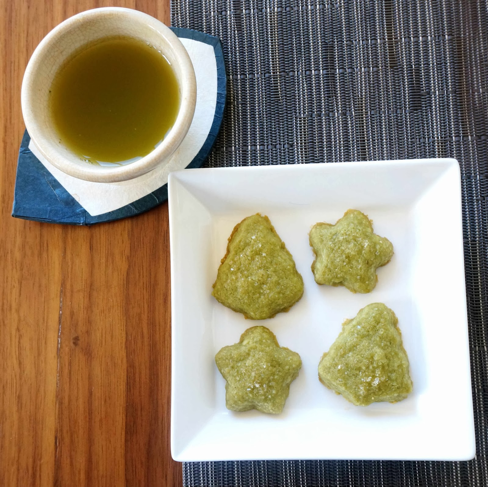 Miss Hangrypants: Matcha Green Tea Shortbread Cookies
