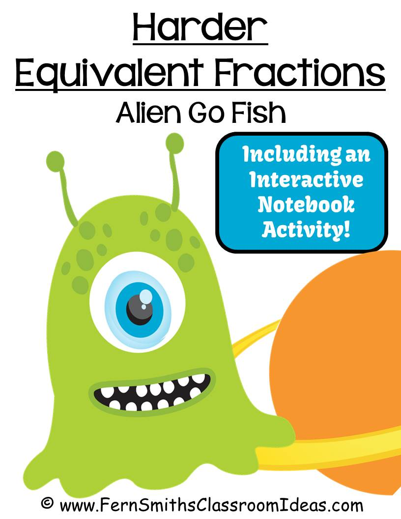 Fern Smith's FREE Go Alien Equivalent Fractions Go Fish Card Game at ClassroomFreebies Blog.