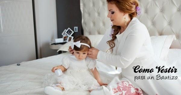 Vestido para bautizo madre blanco