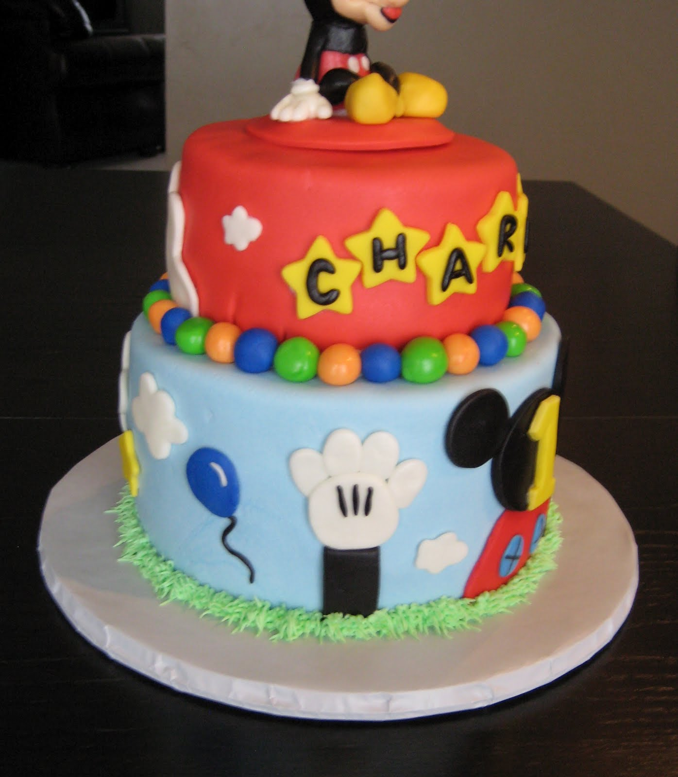 Custom Cakes by Julie: Mickey Mouse Clubhouse Cake IV
