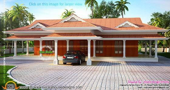 Luxury one floor house