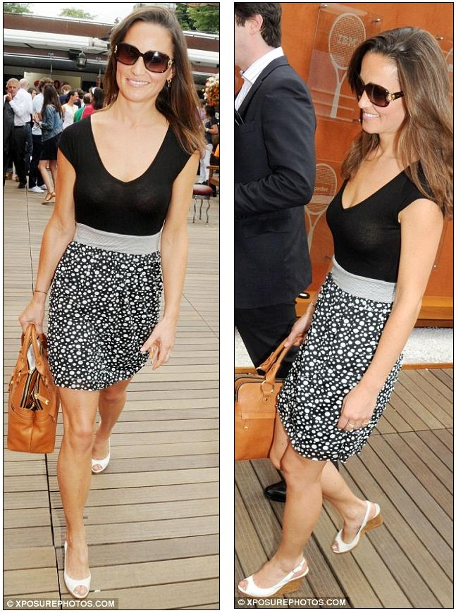 Now Paris gets a taste of Her Royal Hotness: Pippa pops over the Channel to watch the French Open