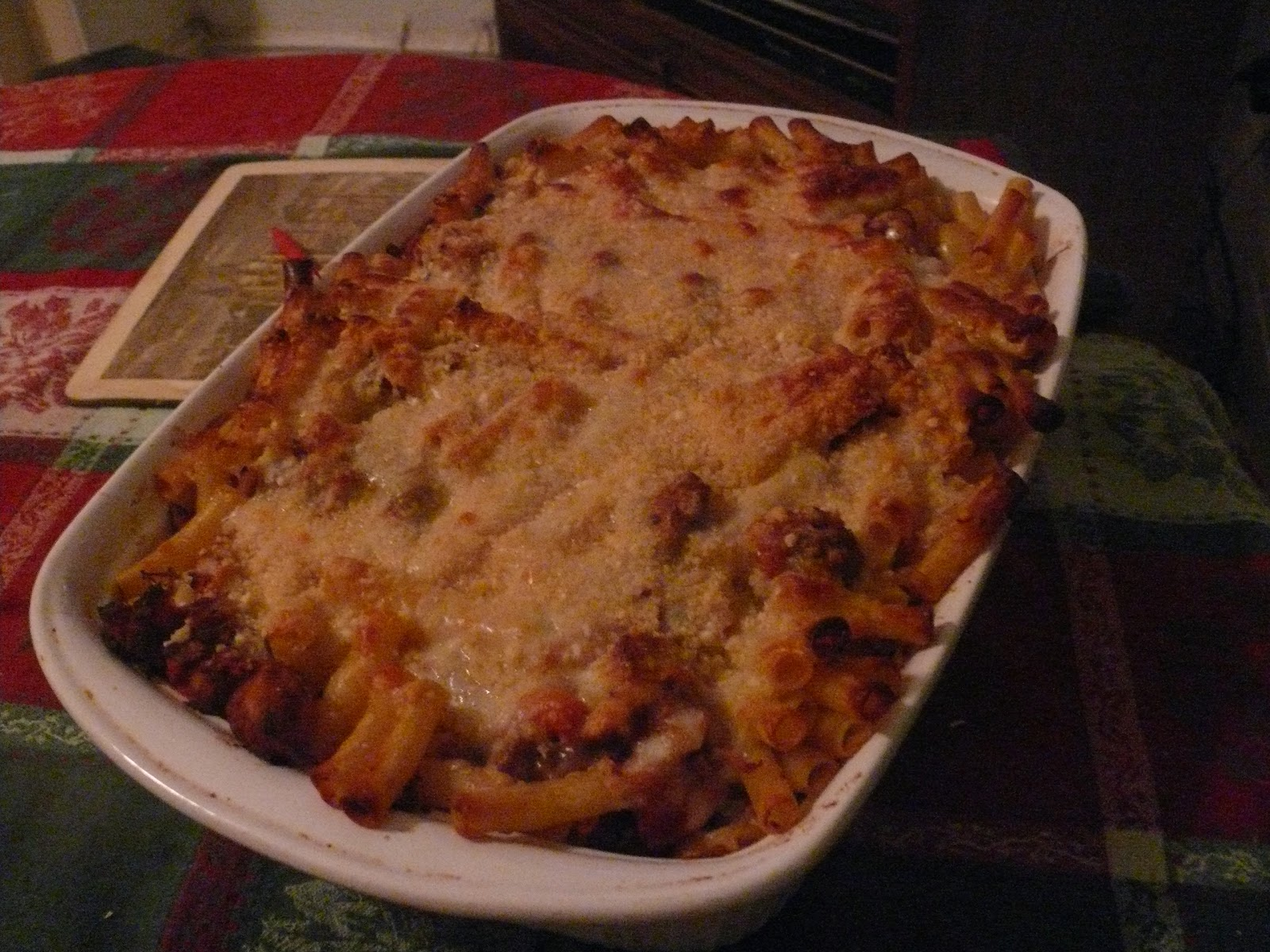 Baked Ziti With Spicy Pork and Sausage Ragu