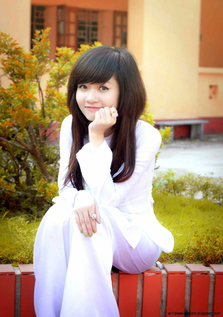 Schoolgirl Outdoor Stock Image - Image: 32769351