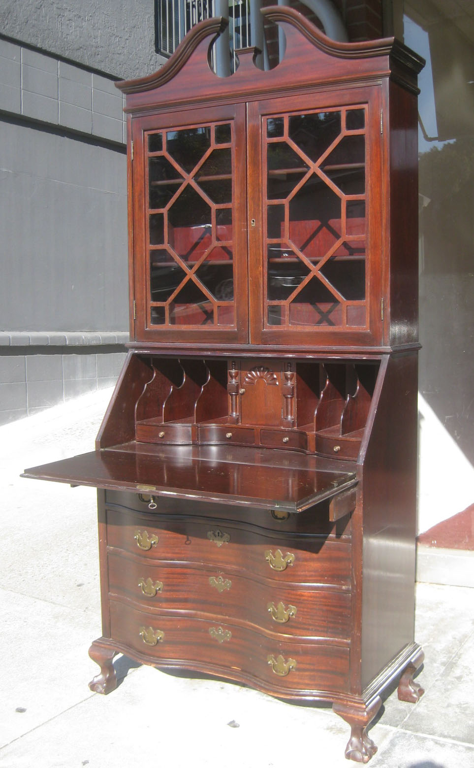 UHURU FURNITURE & COLLECTIBLES: SOLD - Mahogany Secretary ...