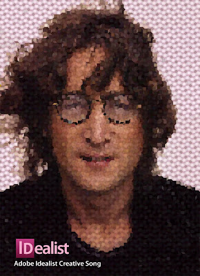 john lennon  Adobe Mosaic Collection (A small selection of vector protraits, inspired by Adobe logos.)