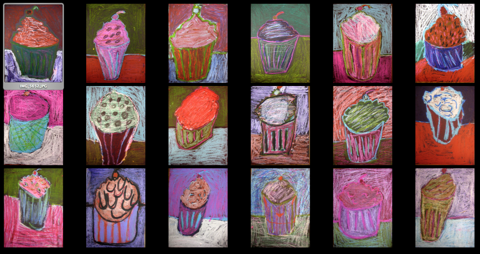 Cupcake Art Lesson : Experiments in Art Education: February 2012