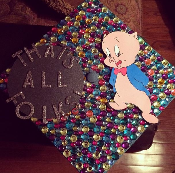 That's All Folks Graduation Cap