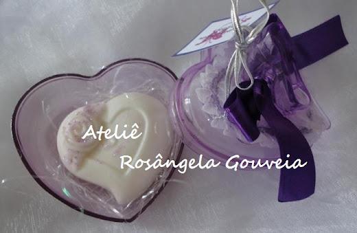 Lembrancinha de 15 anos - coração de acrílico - lilás