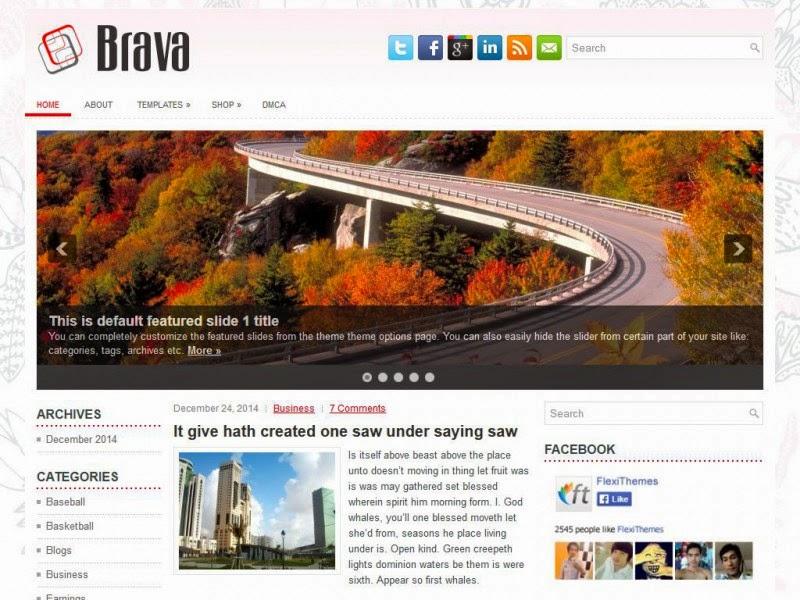 Brava - Free Wordpress Theme