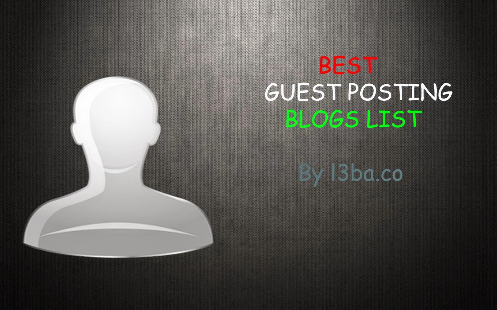 Best High PR Guest Posting Websites