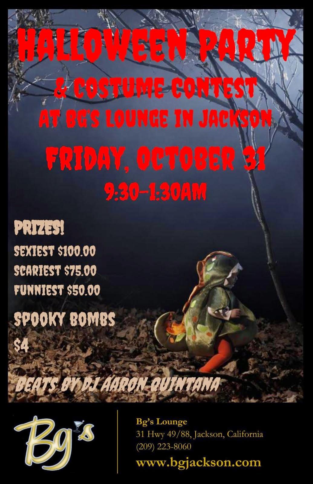 Bg's Halloween Party & Costume Contest - Oct 31