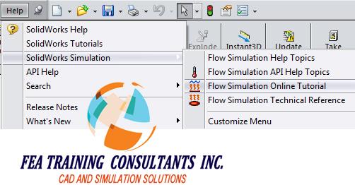 solidworks flow simulation help menu