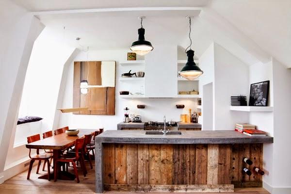 Nowoczesne kuchnie w stylu rustykalnym  #decomanka -> Kuchnie W Rustykalnym Stylu