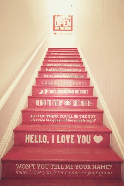 dia dos namorados - artesanato pintura na escada