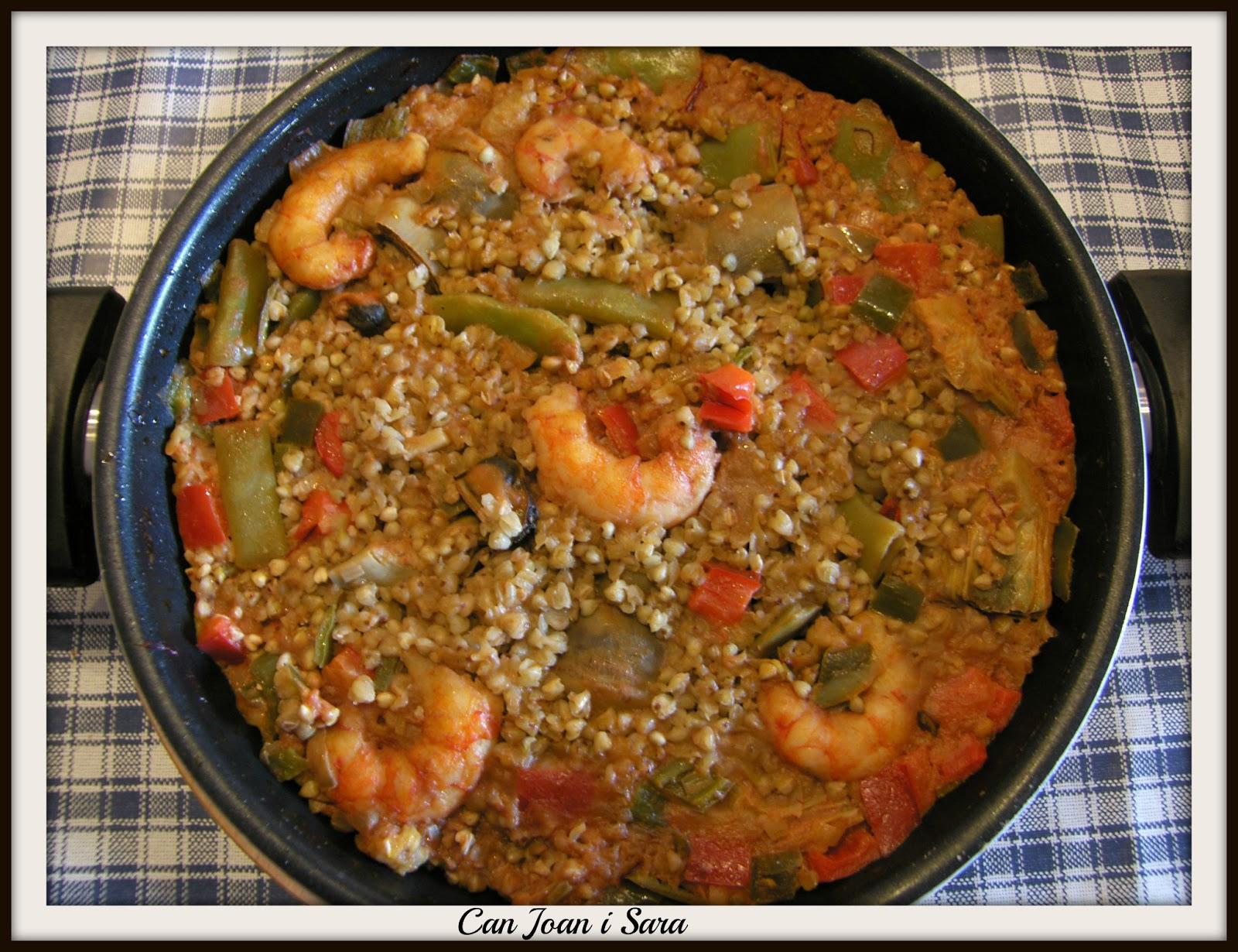 Can joan i sara paellita de trigo sarraceno for Cocinar trigo