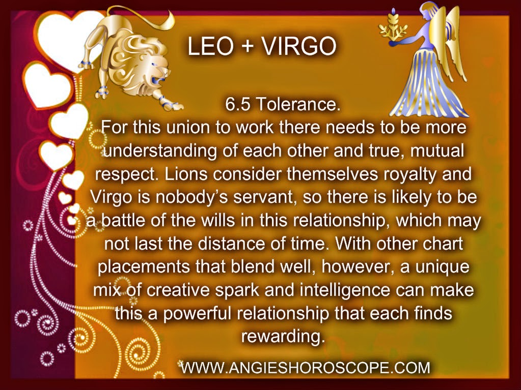 Leo man and virgo woman marriage compatibility