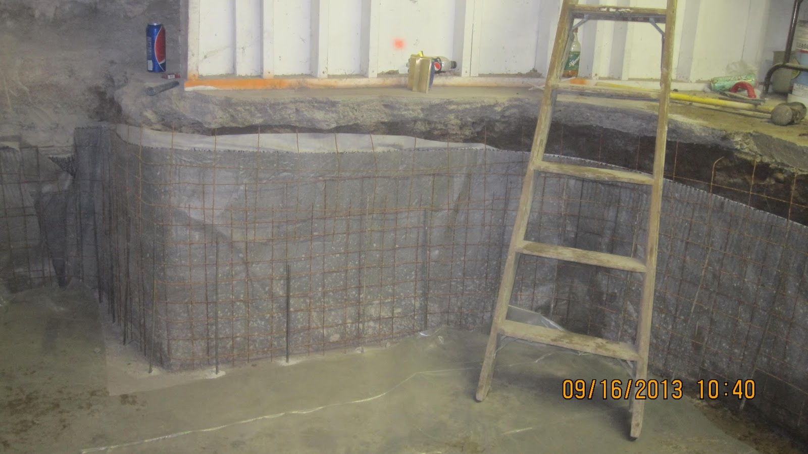 Energy Efficient Building Network Shotcreting Walls Over