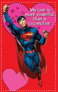 Superman Valentine's Day card from Young Romance #1