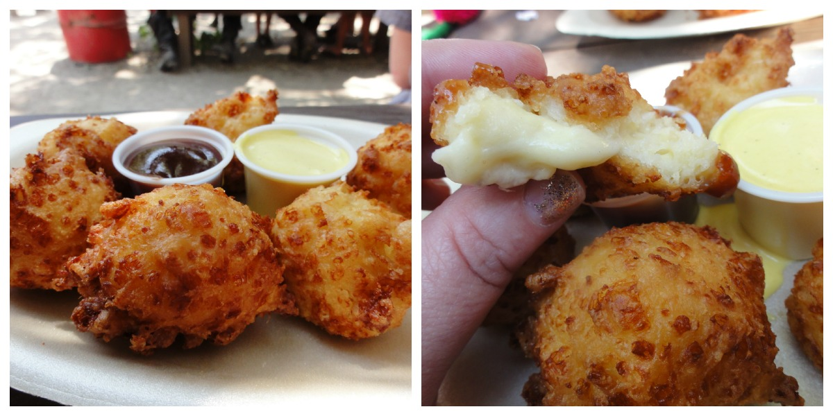 Bristol renaissance faire chicago foodie girl my favorite food at the faire and in all of wisconsin cheese amazing cheese fritters with bbq sauce spicy mustard forumfinder Choice Image