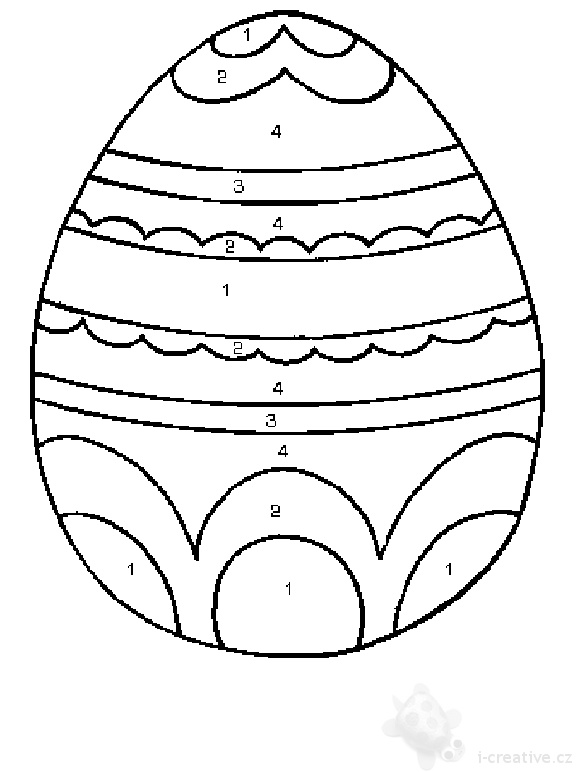 pictures of easter eggs to colour in. easter eggs to colour and