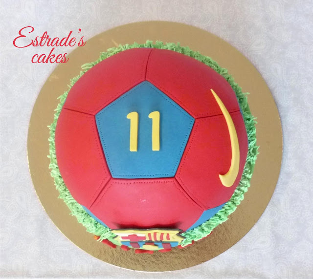 tarta balón del Barcelona 4