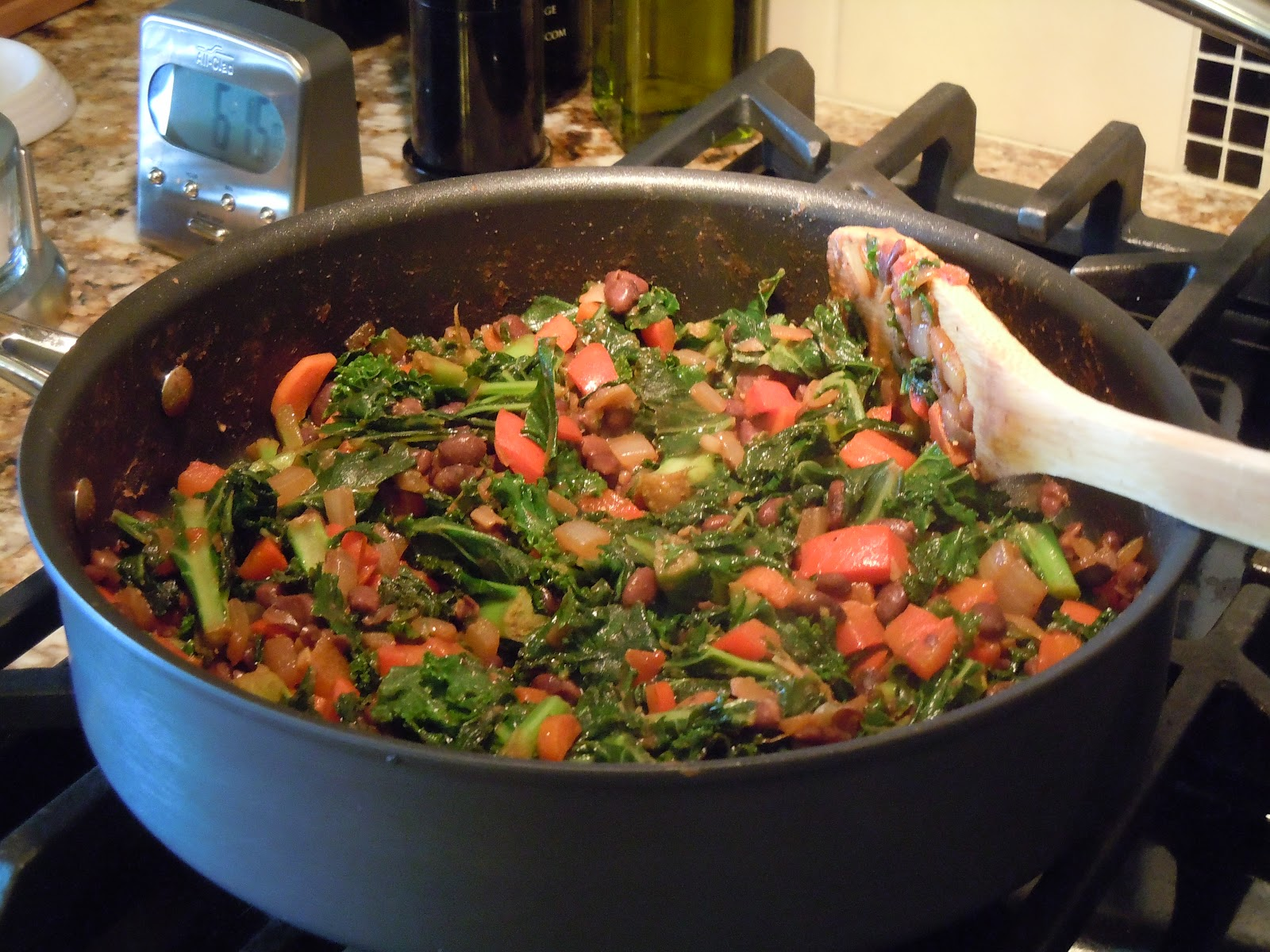 spicy kale and black beans spicy kale and black bean burrito filling 2 ...