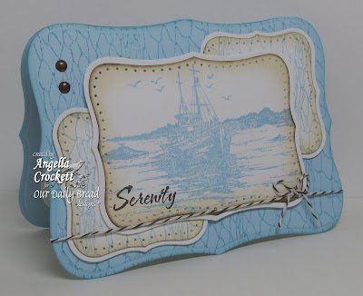 "ODBD ""The Waves On The Sea"" and ""Fishing Net Background"" Designer Angie Crockett"