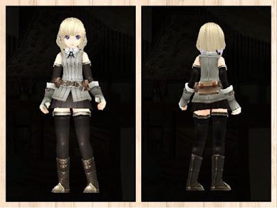 冒険者の服灰色1