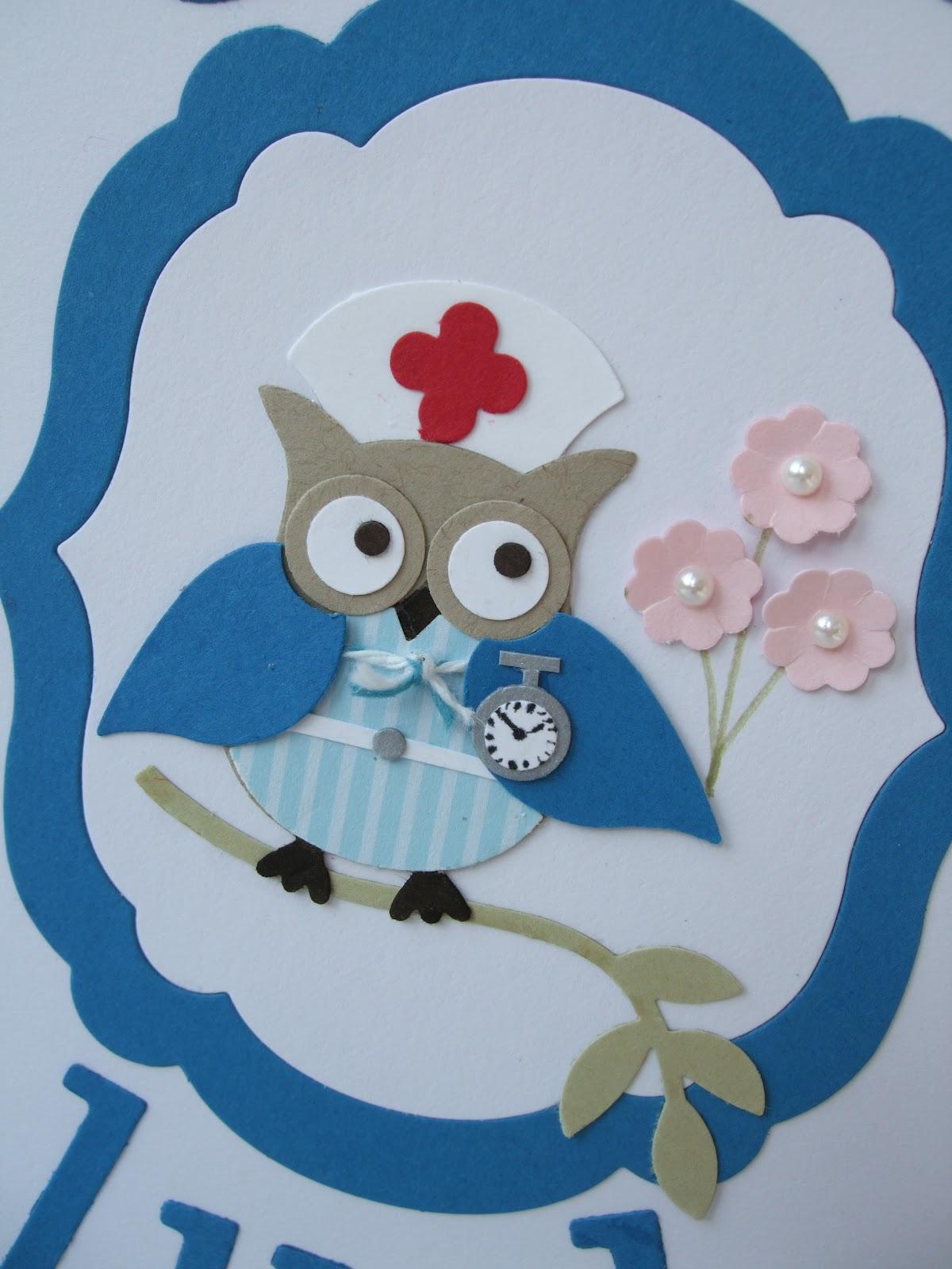 Making Papercrafts Nurse Owl