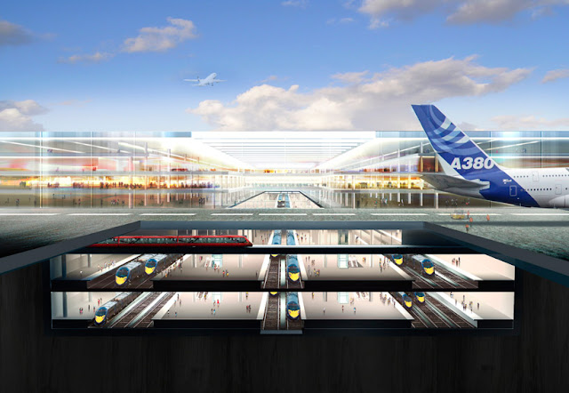 New international rail station directly linked into the hub airport