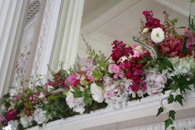 Beautiful Floral Mantlepeice - Otesaga Resort - Splendid Stems Floral Designs