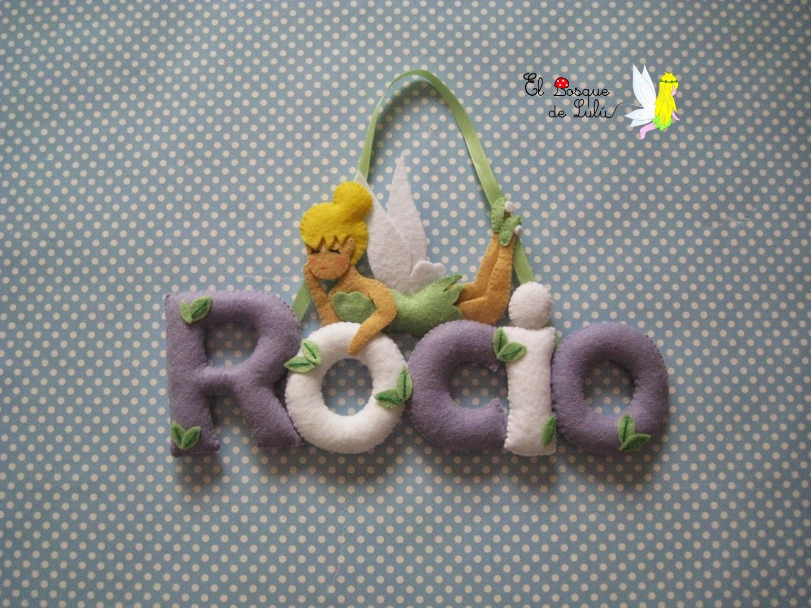nombre-fieltro-Campanilla-decoración-infantil-Rocío-regalo-nacimiento-personalizado