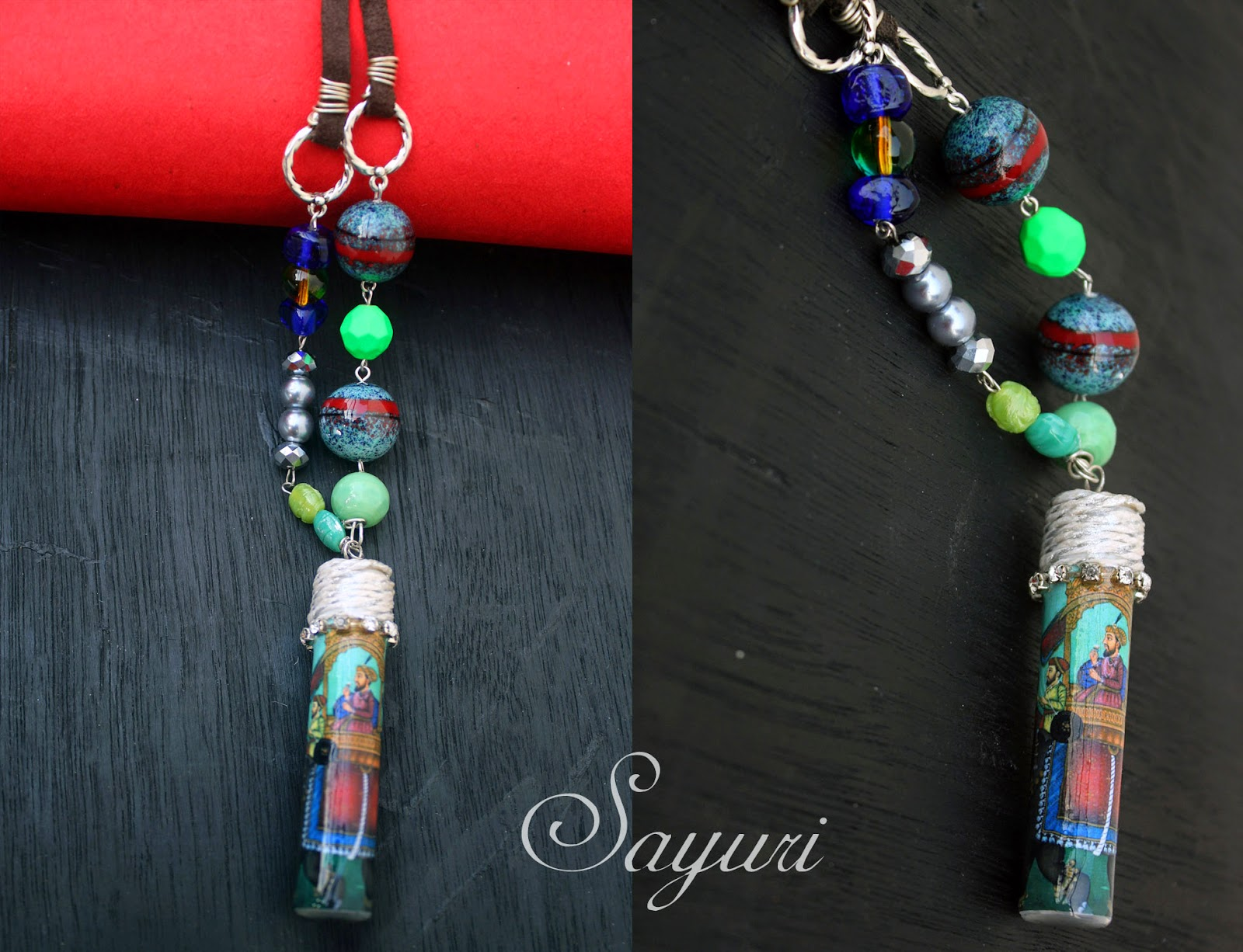 upcycled bottle necklace