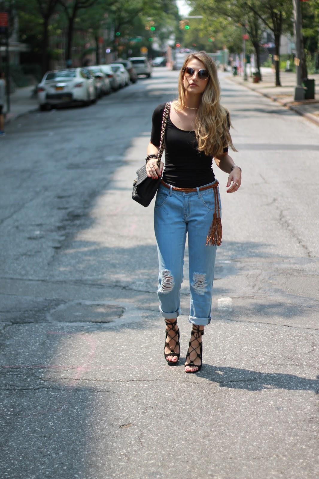 dressed for dreams in tassel belt, zara lace up heels