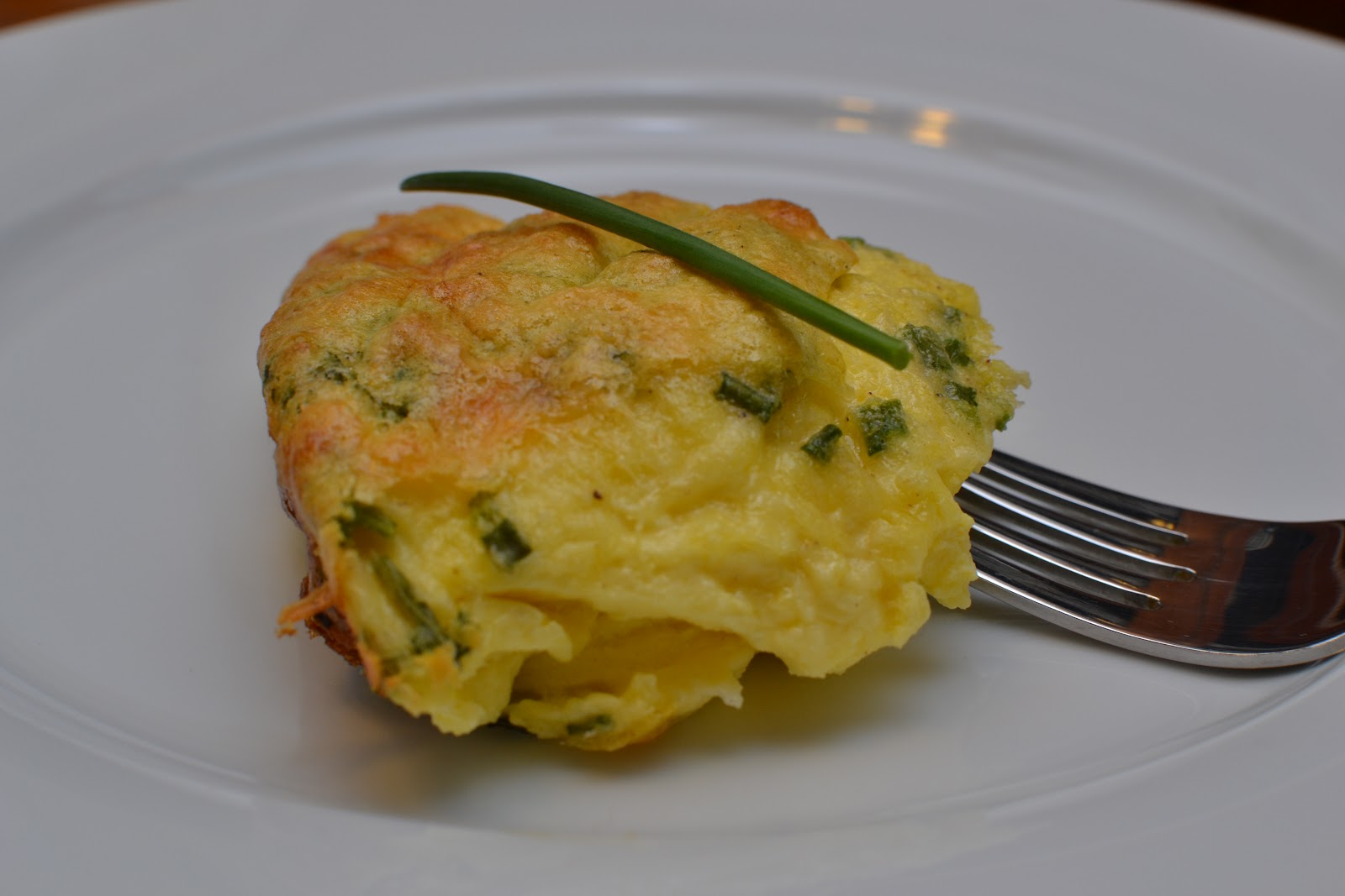 Sense of Home Kitchen: Baked Egg Custard with Cheddar and Chives