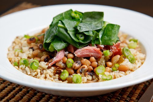 Hoppin' John (Black Eyed Peas and Collard Greens)
