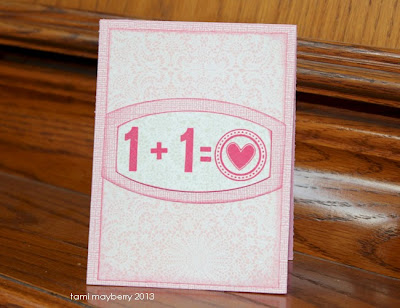 Simple Numbers stamp set by Tami Mayberry for Gina K Designs