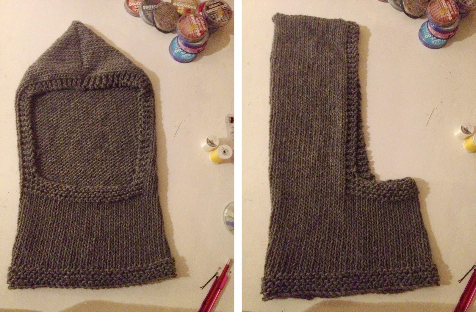 Chainmail Hood Knitting Pattern : Stitch me Softly...: The Hooded Simon - a knitting pattern