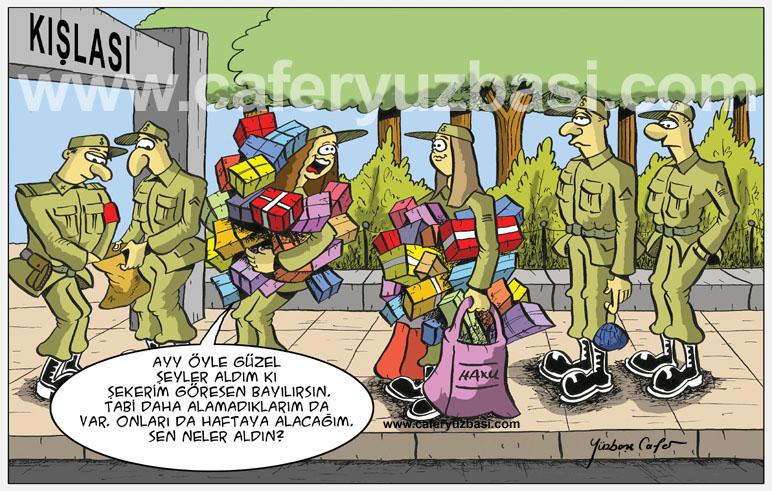alisveriş çilginliği-Kadinlar Asker Olursa?