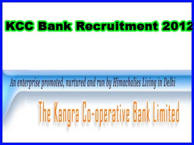 KCC Bank Recruitment 2012