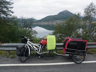 cykla med hund, cykelkärra hund