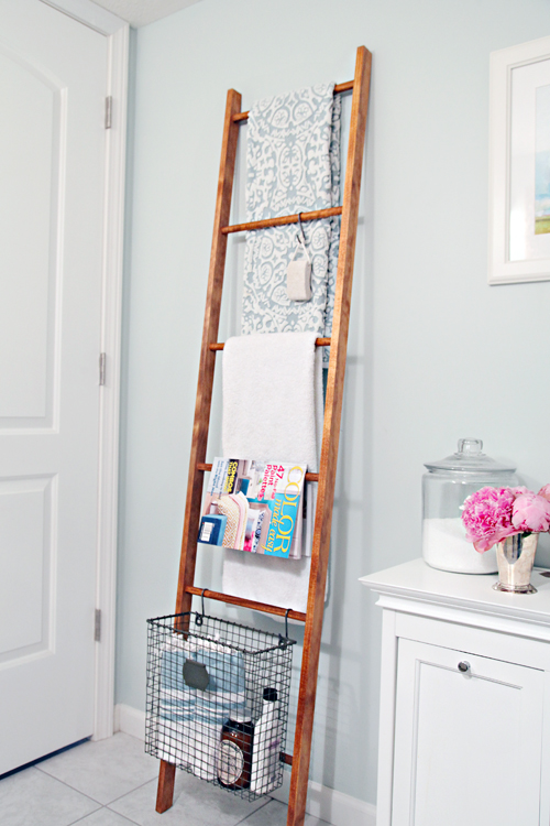 IHeart Organizing  DIY Decorative Wood Ladder