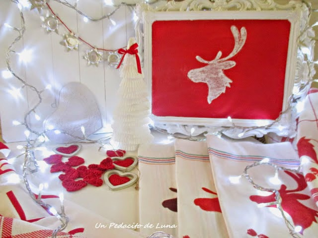 Navidad en blanco y rojo