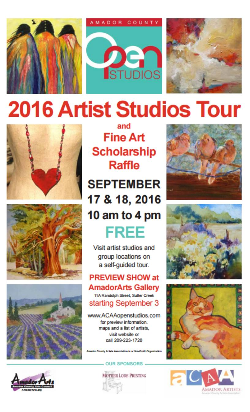 2016 ACAA Open Studios Tour - Sept 17 & 18